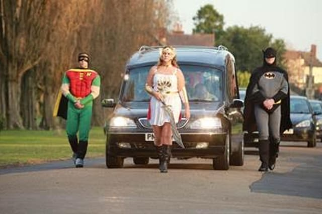 The superheroes funeral