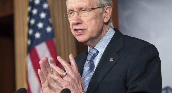 Senate Majority Leader Harry Reid Budget Battle