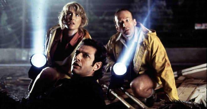Jurassic Park  Jurassic Park - Hr  Laura Dern, Jeff Goldblum, Bob Peck Dr. Ellie Sattler (Laura Dern), Dr. Malcom (Jeff