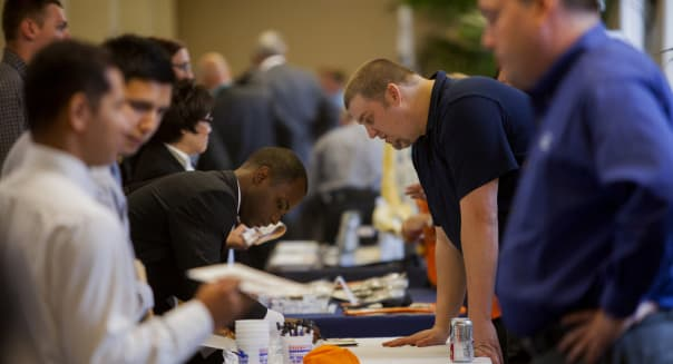 Inside The San Diego Veteran Job Fair As Jobless Claims In U.S. Climb