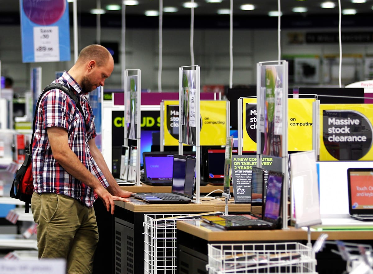 Inside A Dixons Retail Plc Consumer Electronics Store Ahead of Results