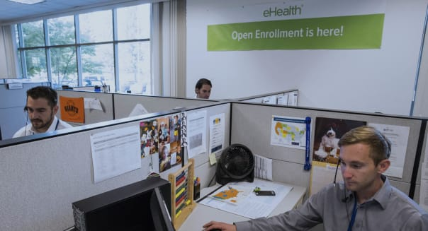 Operations At An Obamacare Center On Opening Day As Exchanges Debut With Demand High on Slow Websites