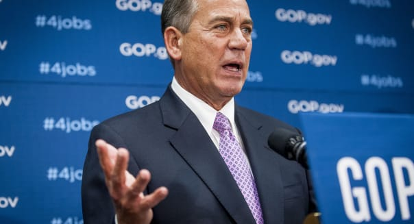 House Speaker John Boehner Holds Weekly News Conference