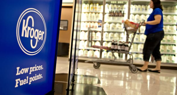 Inside A Grocery Co. Grocery Store Ahead Of Earns Figures
