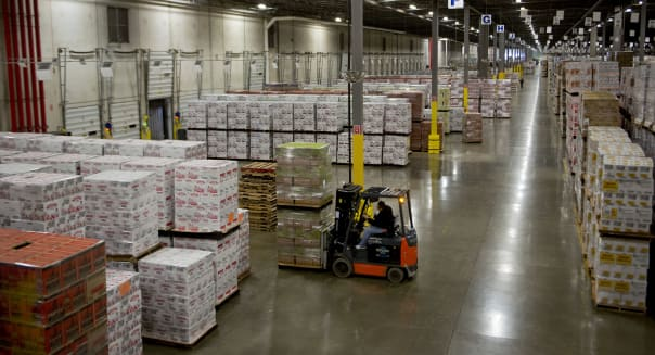 Inside a Liquor Distribution Warehouse Ahead of Business Inventories Data