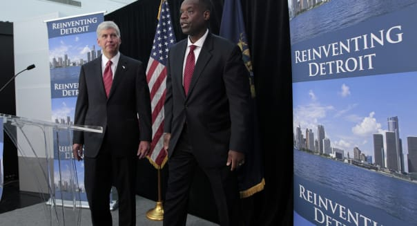 Rick Snyder Michigan governor Kevyn Orr emergency manager detroit bankruptcy bonds