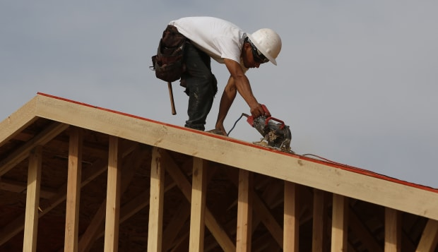 Construction At A Toll Brothers Development Ahead Of Housing Starts Figures