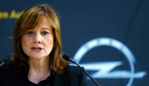General Motors Co. Chief Executive Officer Mary Barra Gives News Conference At Opel Headquarters