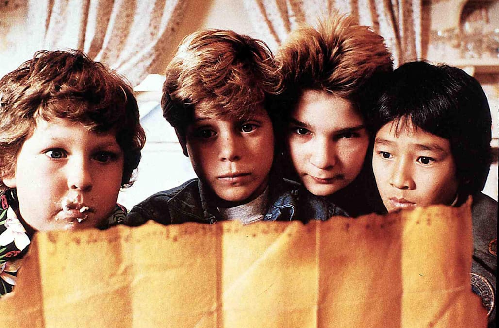 Die Goonies  Goonies,  Jeff Cohen, Sean Astin, Corey Feldman Ke Huy Quan Chunk (Jeff Cohen,l), Mickey (Sean Astin,2vl), Mouth