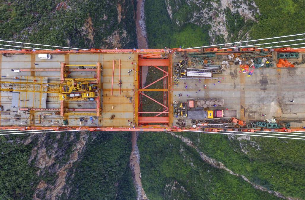 World's Highest Bridge Completes Connection In Guizhou