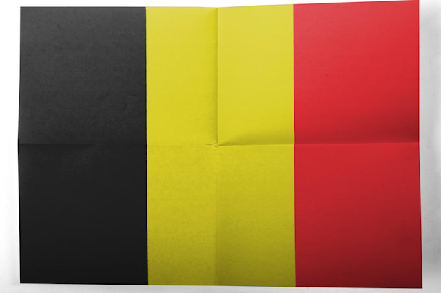 belgium. belgian flag painted...