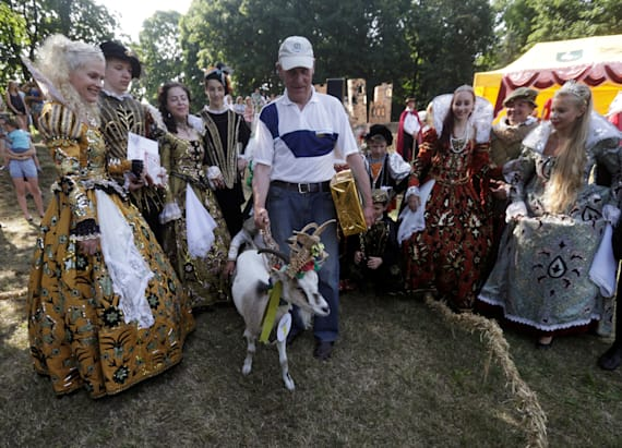 Lithuanian village crowns goat in beauty pageant