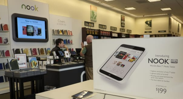 barnes noble store nook electronic reader earnings stocks investing