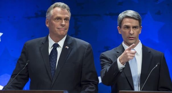 Governor Debate (Virginia gubernatorial candidates Democrat Terry McAuliffe, left, and Republican Attorney General Ken Cuccinell