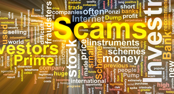 BHXHEM Word cloud concept illustration of Investment scams glowing light effect Word; cloud; concept; illustration; of; Investme