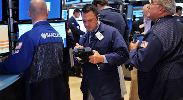 new york stock exchange traders investing earnings wall street facebook