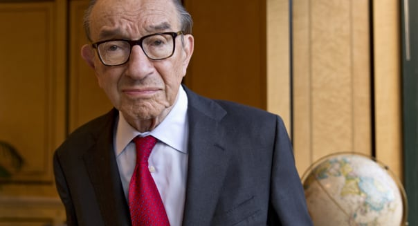 Greenspan Interview (This photo taken Oct. 18, 2013 shows economist Alan Greenspan in his office in Washington. For 18½ years a
