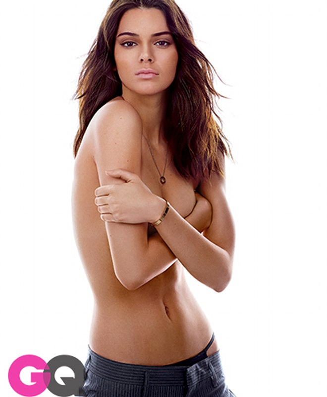 Kendall Jenner topless GQ