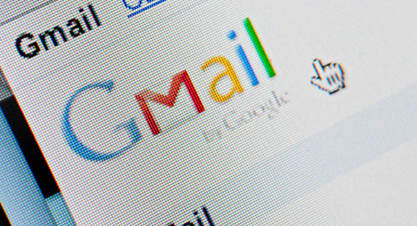 Screenshot from homepage of Google Gmail email website