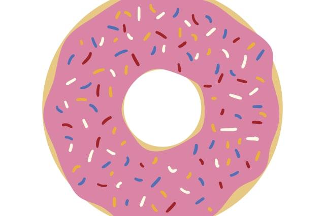 Donut isolated on white background. Simple flat vector illustration, EPS 10.