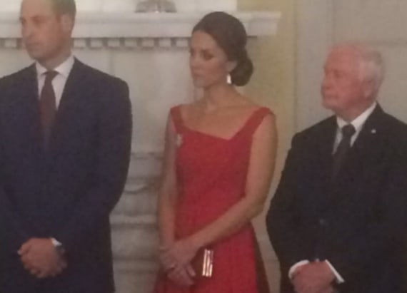 Lady in red! Duchess Kate is all dolled up in Preen