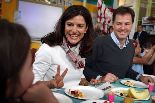 Nick Clegg and his wife Miriam Gonzales Durantez