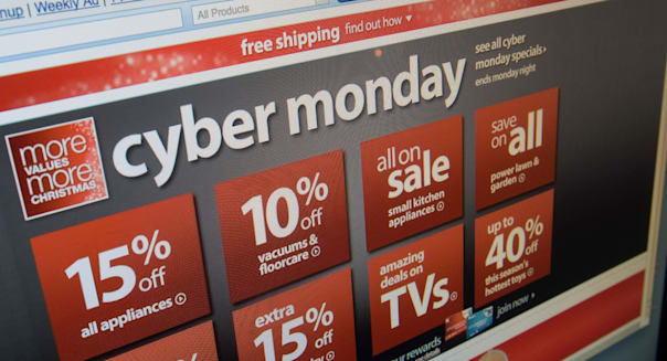 The Sears website features their Cyber Monday sales