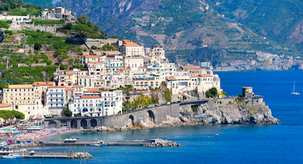 Amalfi coast by Naples, south Italy