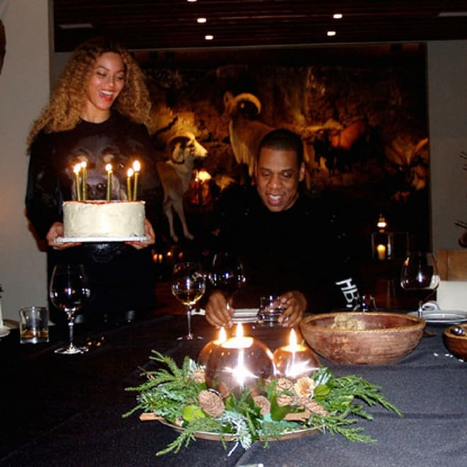 Beyonce Jay-Z 45th birthday Iceland cake