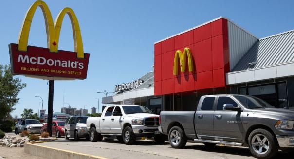 mcdonalds drive through restaurant winnipeg manitoba canada