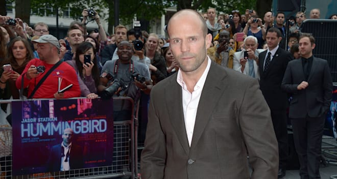 Britain World Premiere Hummingbird (Jason Statham arrives at the world premiere of The Hummingbird at the Odeon West End in Lond