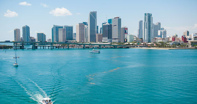 scenic view of miami city...