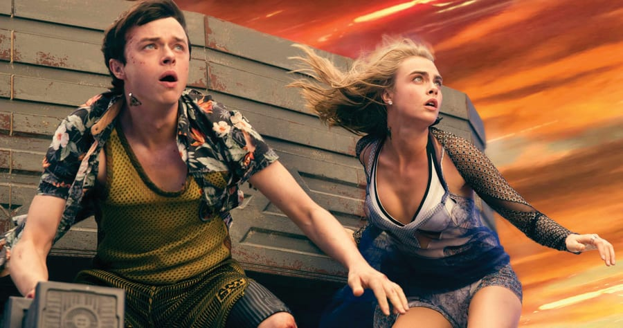 M-4VDF-16373afrpsd Final (Left to right.) Dane DeHaan, and Cara Delevingne star in EuropaCorp's Valerian and the City of a Thousand Planets.Photo credit: Vikram Gounassegarin� 2016 VALERIAN SAS � TF1 FILMS PRODUCTION