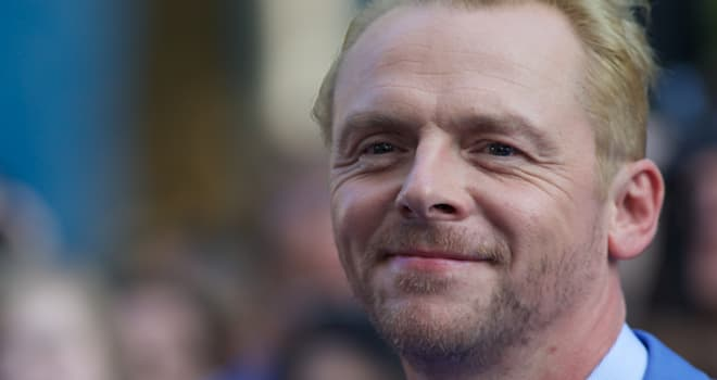 Simon Pegg at the London Premiere of 'The World's End' on July 10, 2013