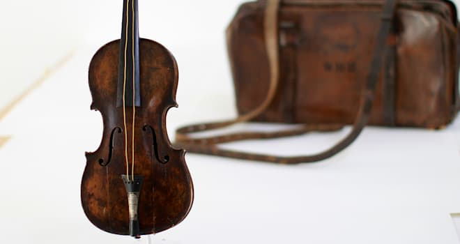 titanic violin sale