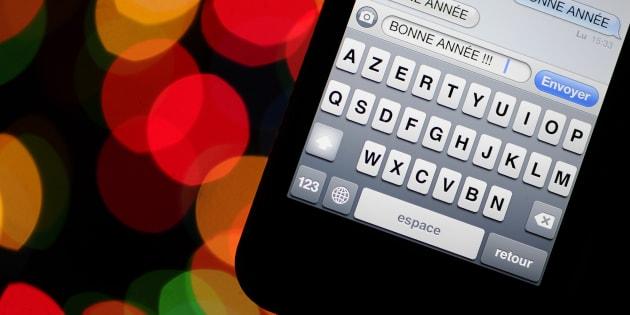 Les SMS en chute pour le nouvel an