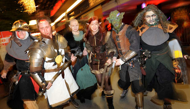 Berlin, Germany, extras for the premiere of World of Warcraft Cataclysm