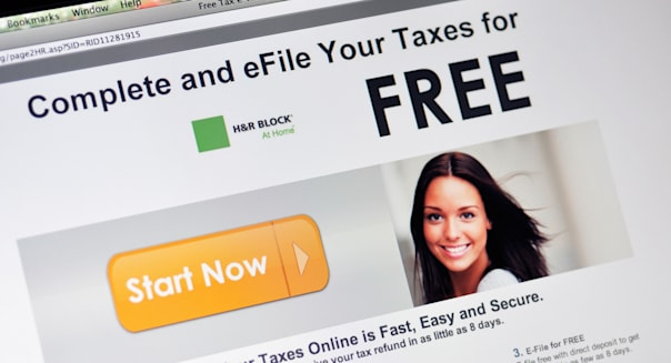 H&R Block tax preparation website