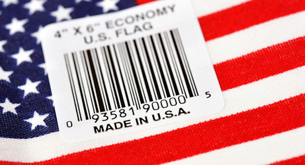 Made in USA on American flag