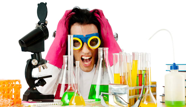 student working in the chemical ...