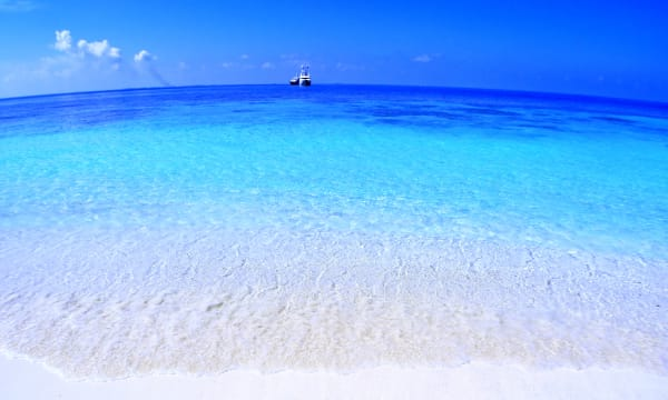 Maldives turquoise water and beach