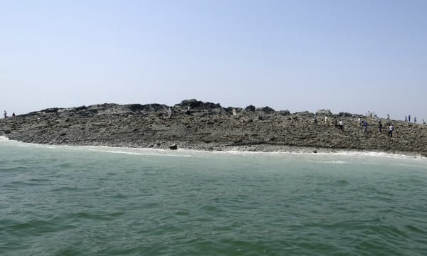 Earthquake created island in Pakistan
