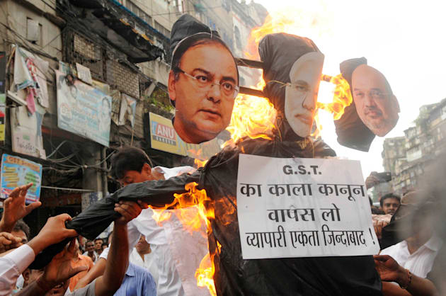 Protest Against GST In Kolkata