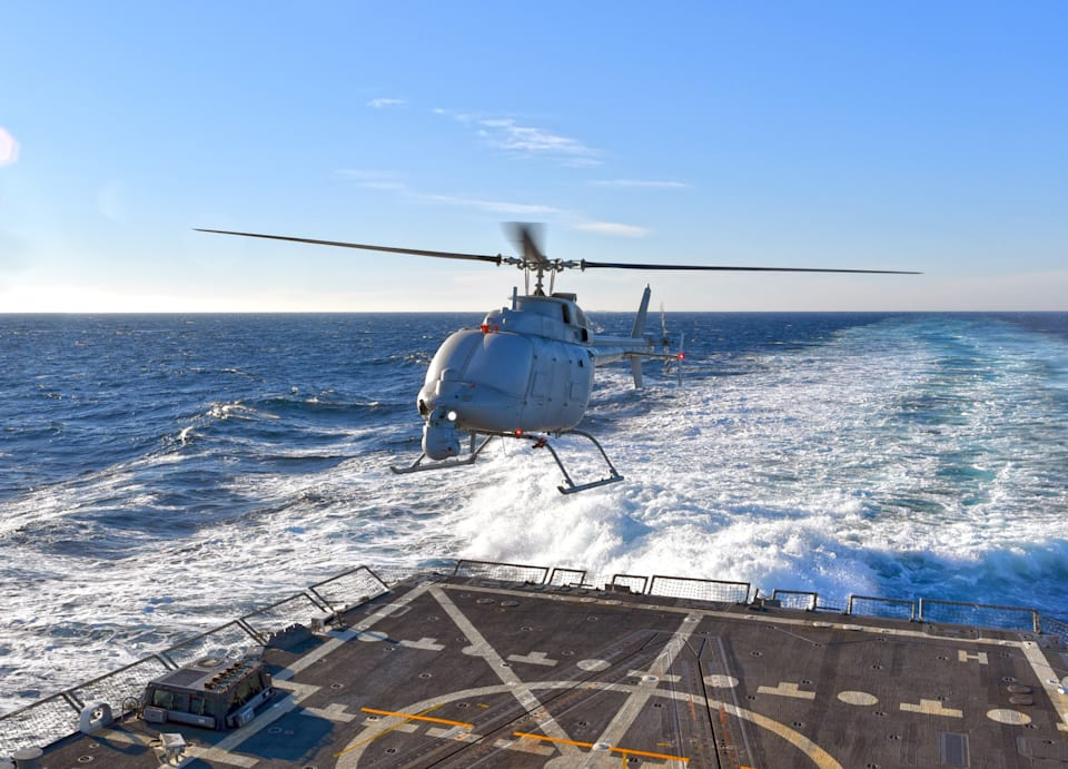 The Navy is testing out a bigger, badder Fire Scout UAV