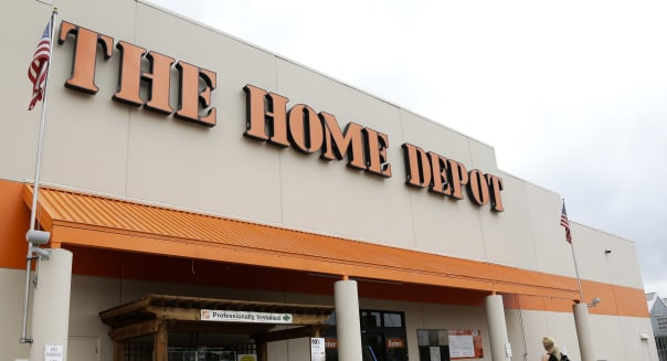 A Home Depot sign is shown on Tuesday, Aug. 14, 2012, in Nashville, Tenn. The Home Depot Inc. is feeling more optimistic about the recovery of the housing market after customers spent more on remodeling and repair projects in the second quarter. The biggest U.S. home-improvement retailer said Tuesday, Aug. 14, 2012 that stronger sales of paint, bath accessories and kitchen installations helped lift its net income by 12 percent during the period. Lower costs also contributed to the improved results.  (AP Photo/Mark Humphrey)