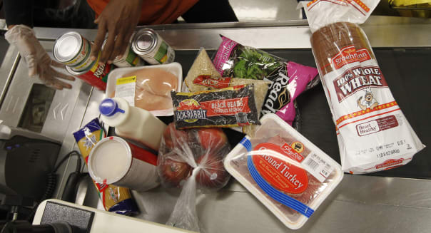 Food Stamps poverty americans shopping grocery