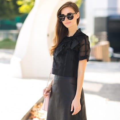 Street style tip of the day: All black outfit