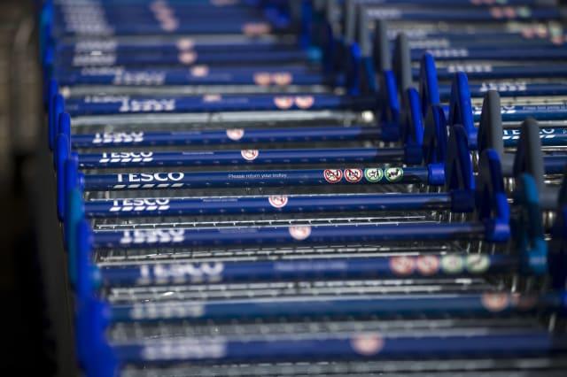 BRITAIN-RETAIL-EARNINGS-FOOD-BUSINESS-TESCO