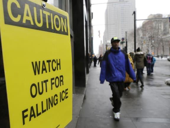 Falling Ice Skyscrapers