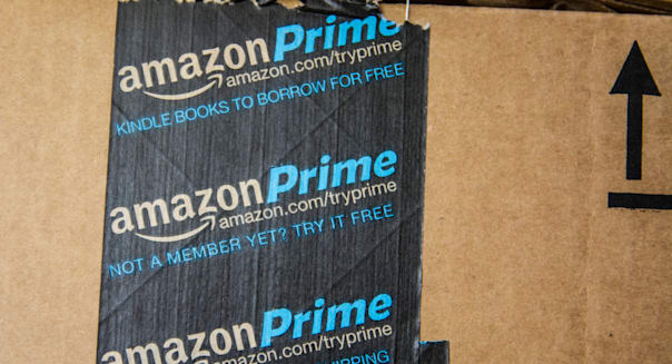 An Amazon Prime box